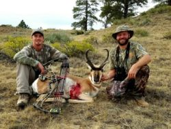 Archery hunting at Cottonwood Outfitters in Montana